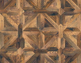 3D model Classic pattern parquet of natural wood 2
