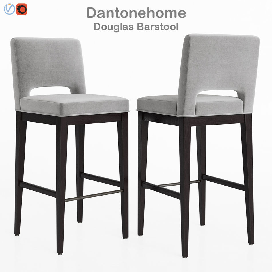 Outstanding Dantonehome Douglas Barstool 3D Model Machost Co Dining Chair Design Ideas Machostcouk