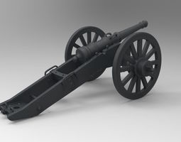 war cannon 3d print model