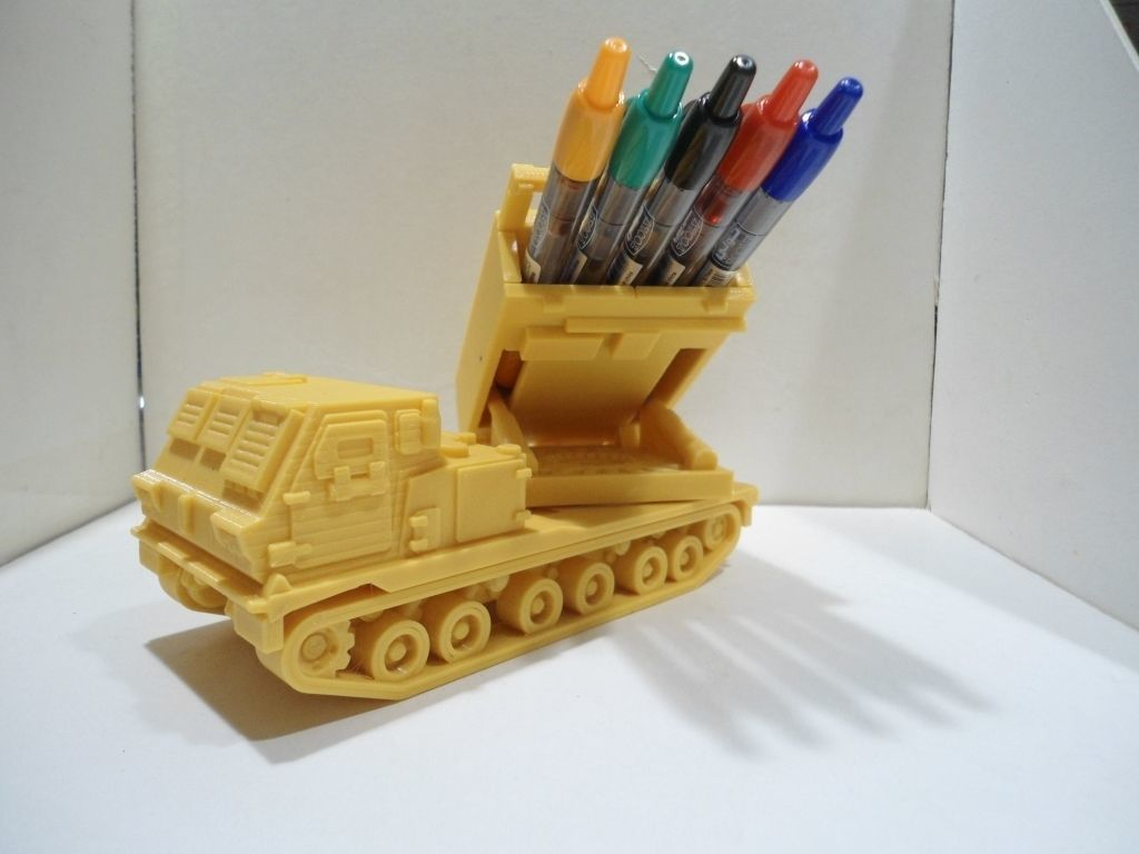 Missiles launcher truck pen and pencil holder