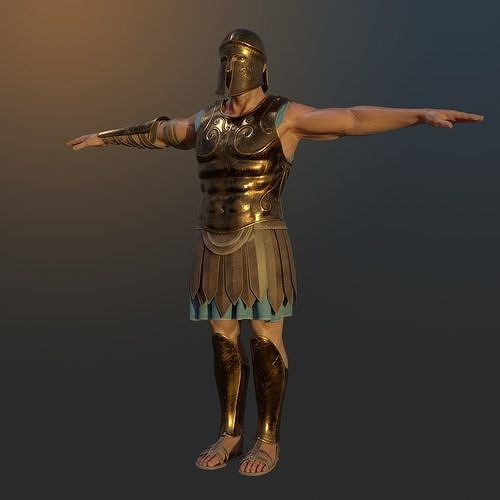 ancient greek hoplite warrior 3d model obj mtl 3ds fbx stl blend 1