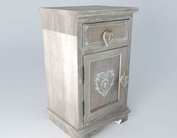 3d model nightstand camille houses the world