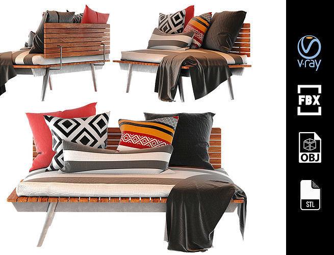 ikea sofa design housedecor living room 3d model max obj mtl fbx stl 1