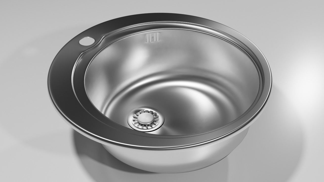 Round kitchen sink | 3D model