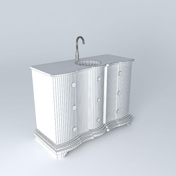 Eugenie Gray Bathroom Cabinet Houses The W 3d Model Max Obj 3ds Fbx Stl Dae