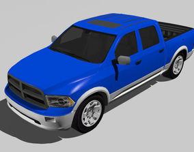 3D asset Pickup Car new