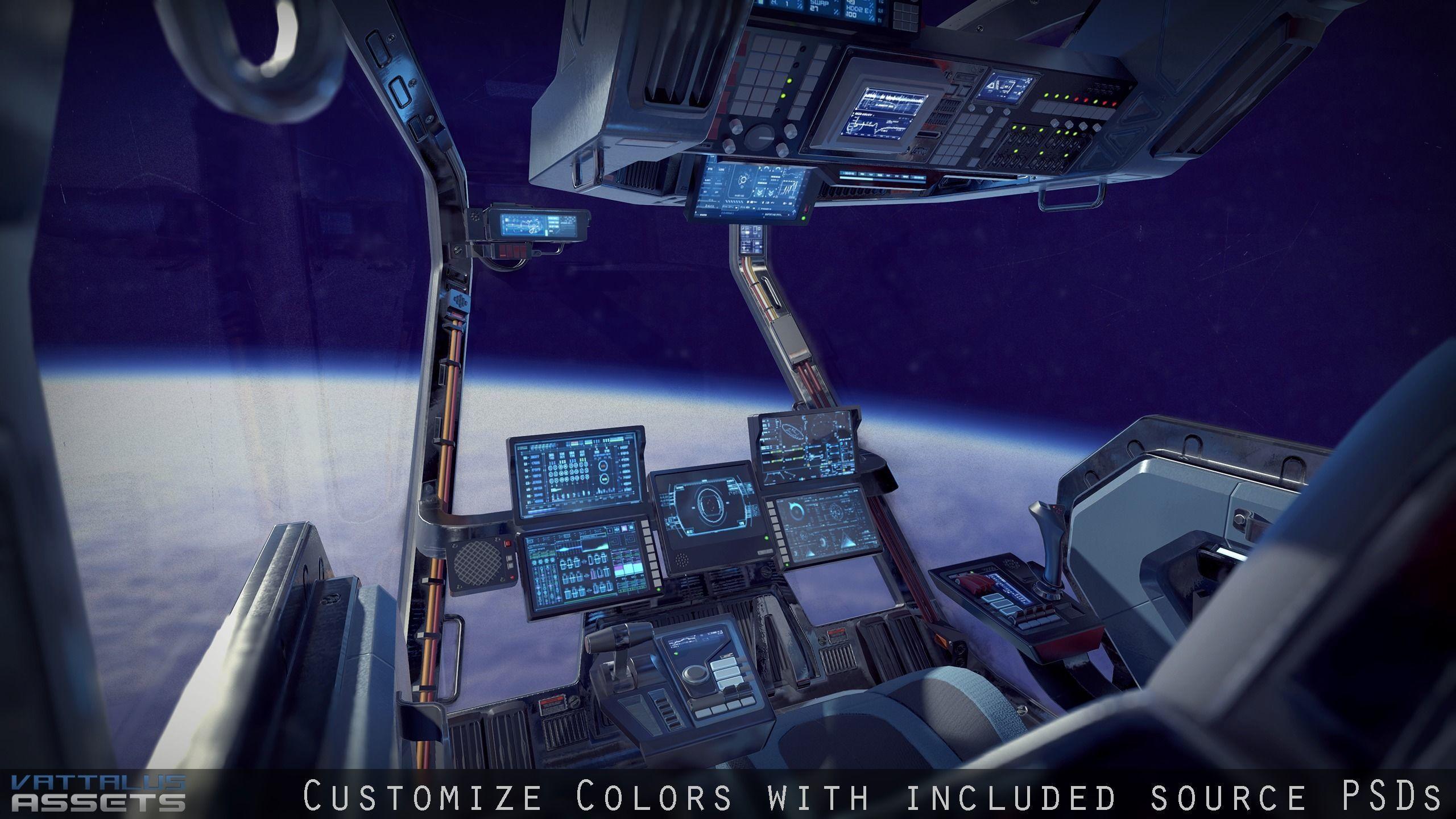 Sci Fi Fighter Cockpit 4 | 3D model