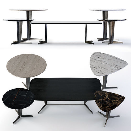 molteni attico tables 3d model max obj mtl fbx mat 1