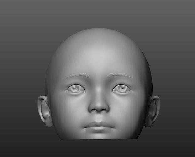 child head mannequin 3d model stl 1