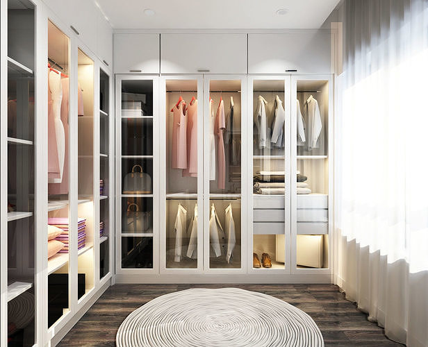 3d Dressing Room Luxury Closet Cgtrader