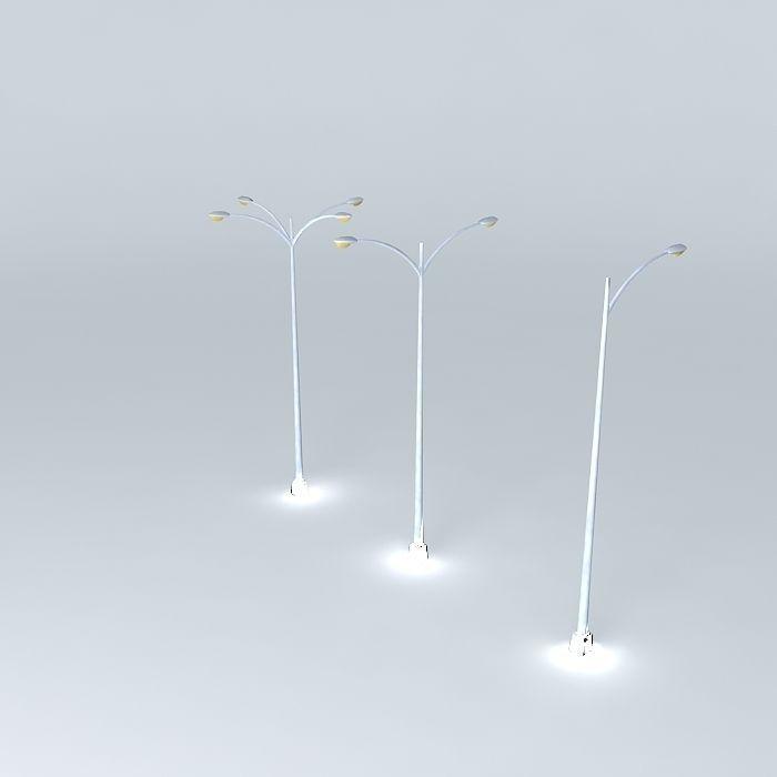 Highway Street Light Poles 3d Cgtrader
