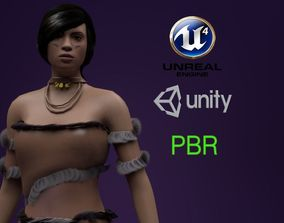 3D model animated Stone Age Character Rigged PBR