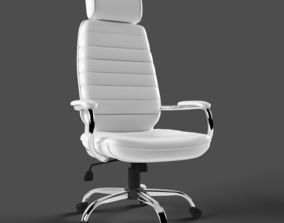whiteleather White office chair 3D