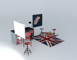 3d model the office london houses of the world