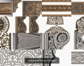 3D model arabic decor cnc set saudi
