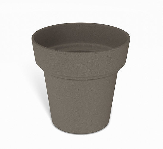 brown flower pot 3d model obj mtl 3ds fbx dae 1