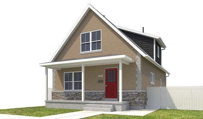 house-087 3d model max obj mtl 3ds fbx dwg 1