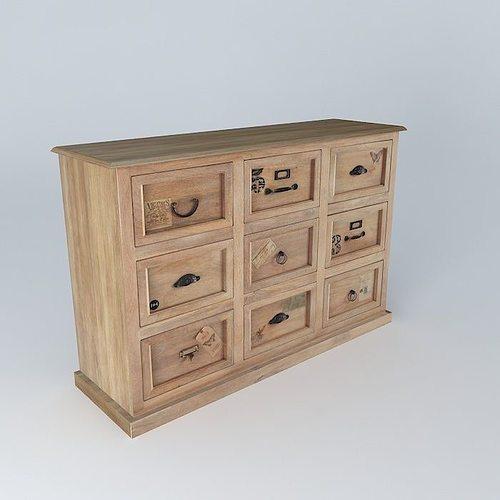 Counter naturaliste houses the world 3d model max obj 3ds fbx stl dae - Furniture wereld counter ...