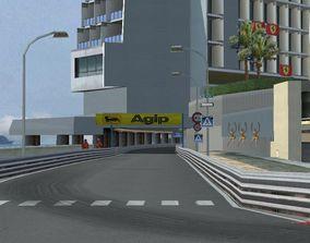 Monaco Montecarlo 70s Style F1 Track 3D model