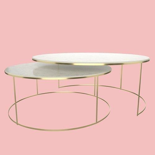 modern round coffee table 3d model obj mtl 3ds fbx stl blend dae 1