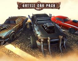 3D asset Battle Car Pack Volume One