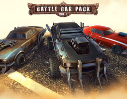 Battle Car Pack Volume One 3D Model