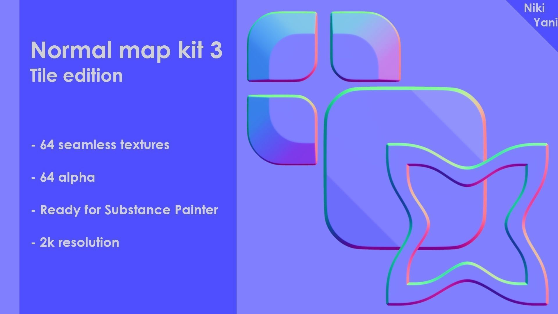 Normal map kit 3 Tile edition | Texture
