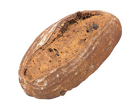 Photorealistic Walnut Bread 3D Scan