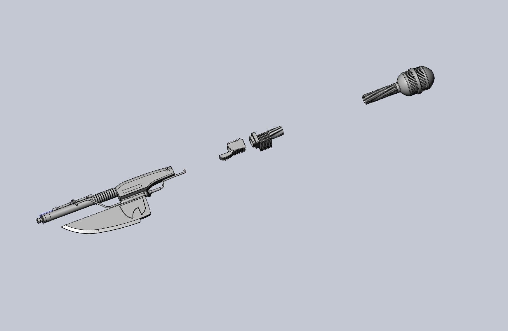 Star Wars Vibro Axe Assembly Models
