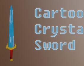 Sword Cartoon Low Poly 3D model realtime