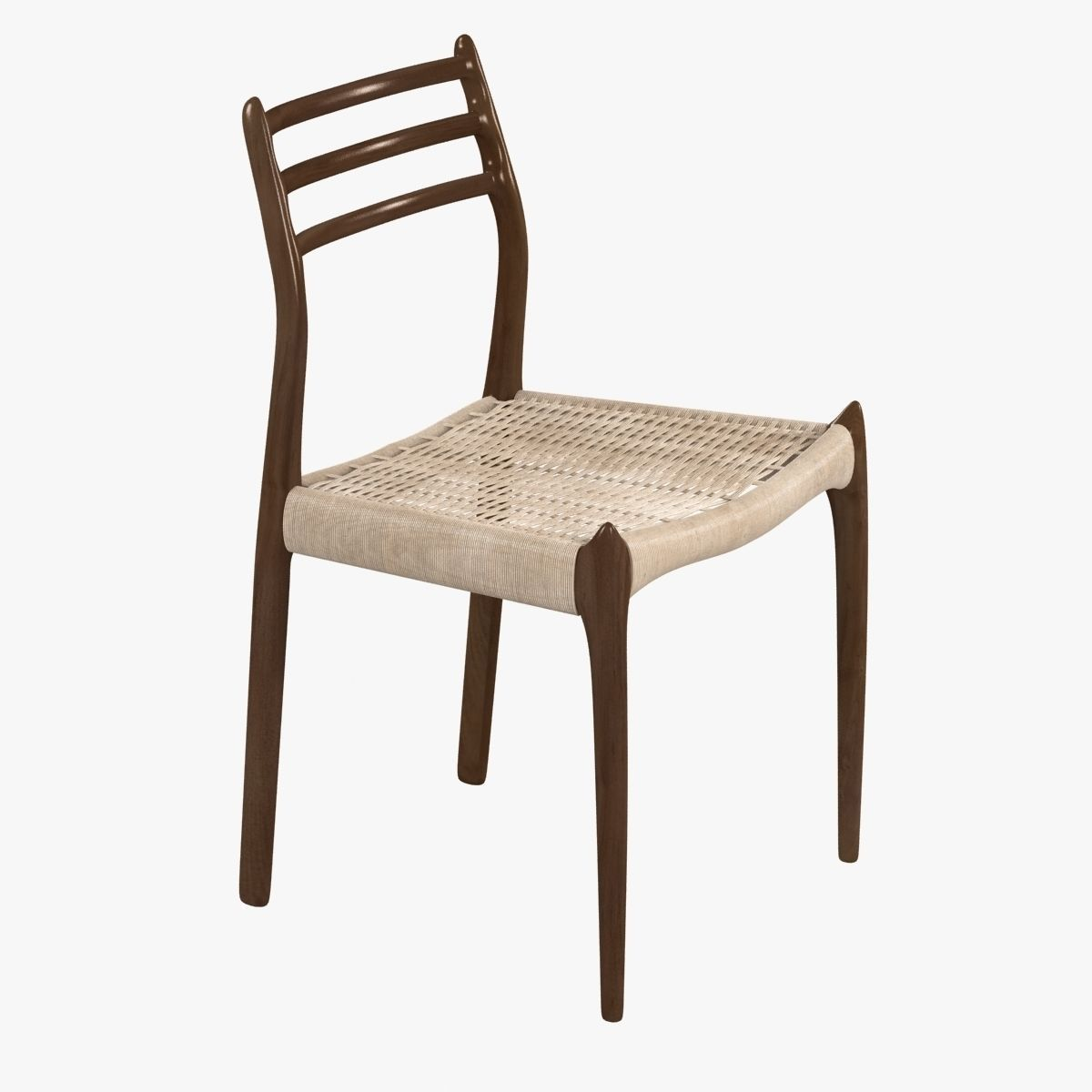 dwr moller model 78 side chair 3d model max obj 3ds fbx skp mtl 1 ... & 3D frame dwr Moller Model 78 Side Chair | CGTrader