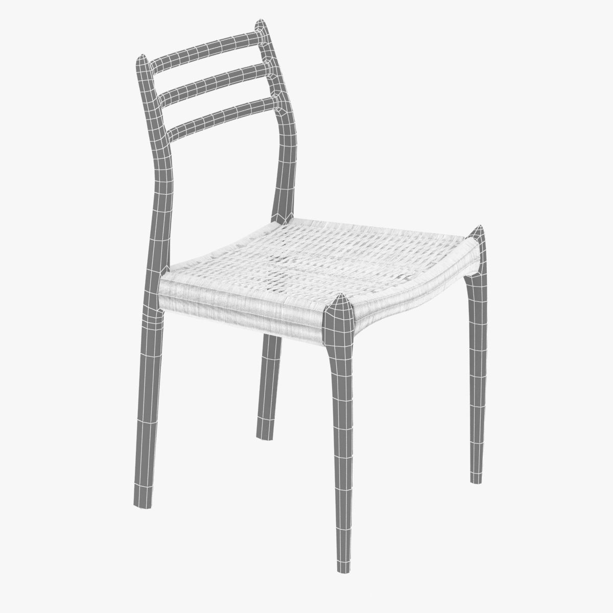 ... Dwr Moller Model 78 Side Chair 3d Model Max Obj 3ds Fbx Skp Mtl 8 ...