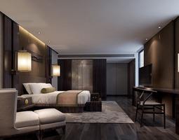 Bedroom 3D model blanket