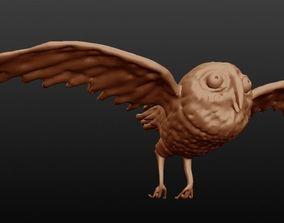 owl sculpted 3D