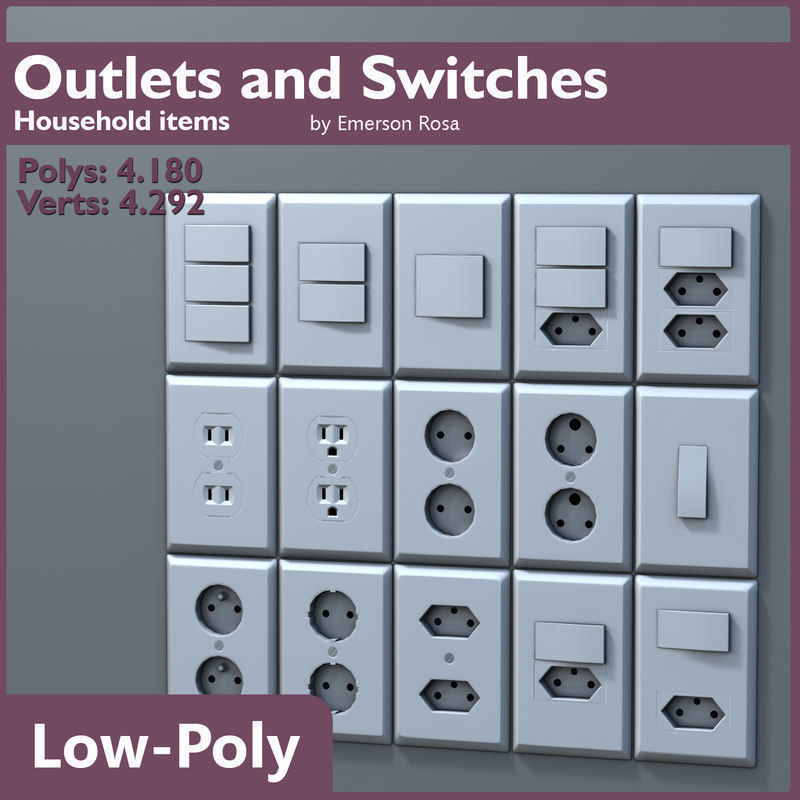 Low-Poly Outlets and Switches