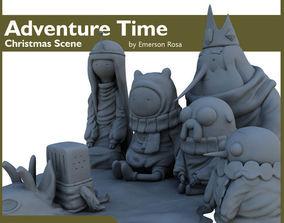 3D print model Adventure Time - Christmas Scene