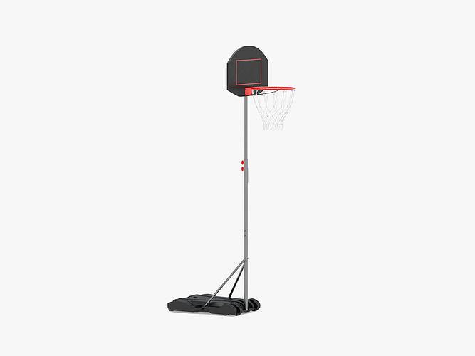 wheels portable adjustable height basketball hoop stand 3d model max obj mtl 3ds fbx c4d ma mb 1