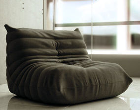Photorealistic Togo Lounge Chair 3D