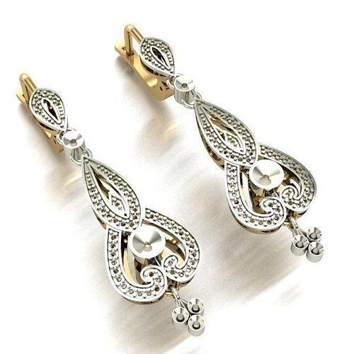 women earrings 3d model stl 3dm 1
