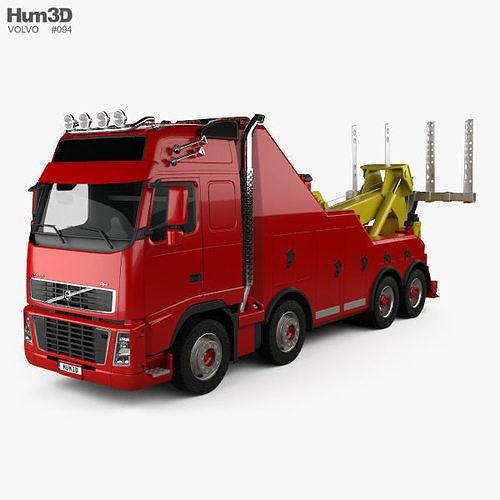 volvo fh tow truck 2008 3d model max obj mtl 3ds fbx c4d lwo lw lws 1