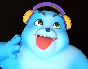 3D Asset - Cartoons - Character - Bear Blue - Rig -