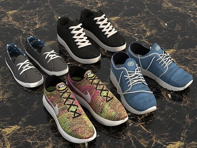 Sport Shoes Collection Set 3D model  92628e4e3