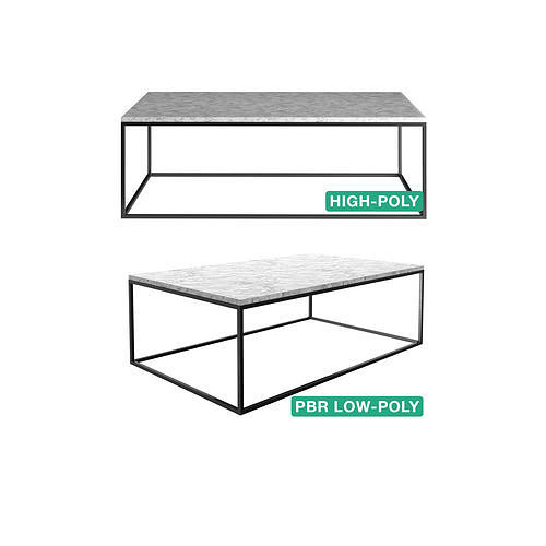 Sidetable - Tania - High- and Low-poly