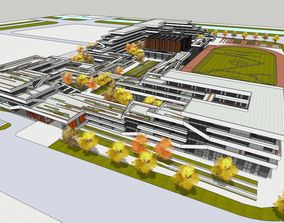 3D Primary and secondary school building design 5