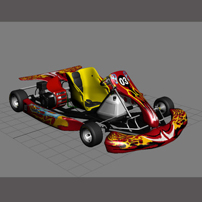 go kart 3d model max obj 3ds fbx 13
