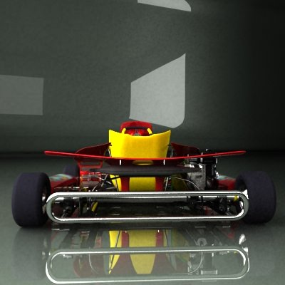 Go Kart 3D Model .max .obj .3ds .fbx