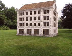3D model RETRO CLASSIC BUILDING EUROPEAN STYLE