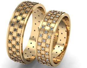 wedding ring diamond 3D printable model