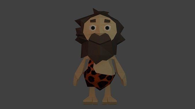 Cave man cartoon character