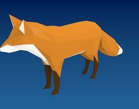 3D model Lowpoly Fox